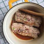 Honey Walnut and Cherry Stuffed Pork Loin