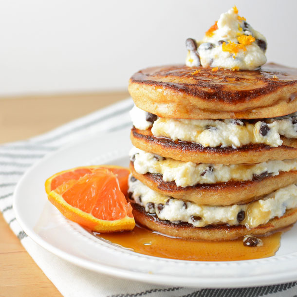 Orange Cannoli Pancakes