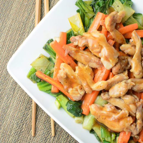 Ginger Pepper Chicken and Bok Choy