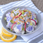 creamy and light purple potato salad
