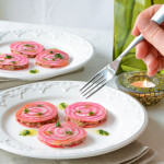 Raw Candy-Striped Beet Ravioli