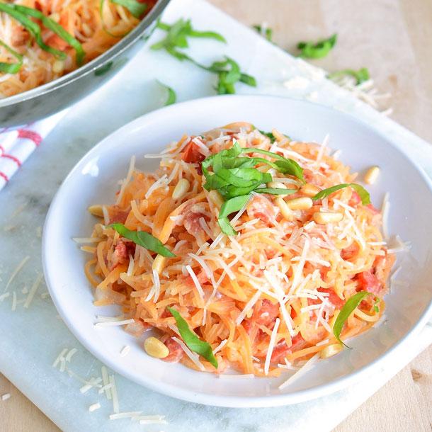 blushing rutabaga noodles