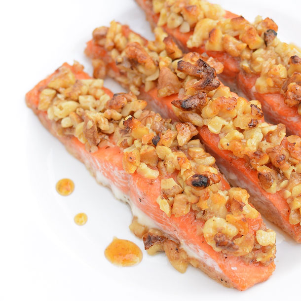 honey walnut salmon