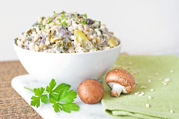 Hungarian Mushroom, Leeks and Kale Pilaf