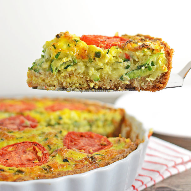 Zucchini and Chive Quiche