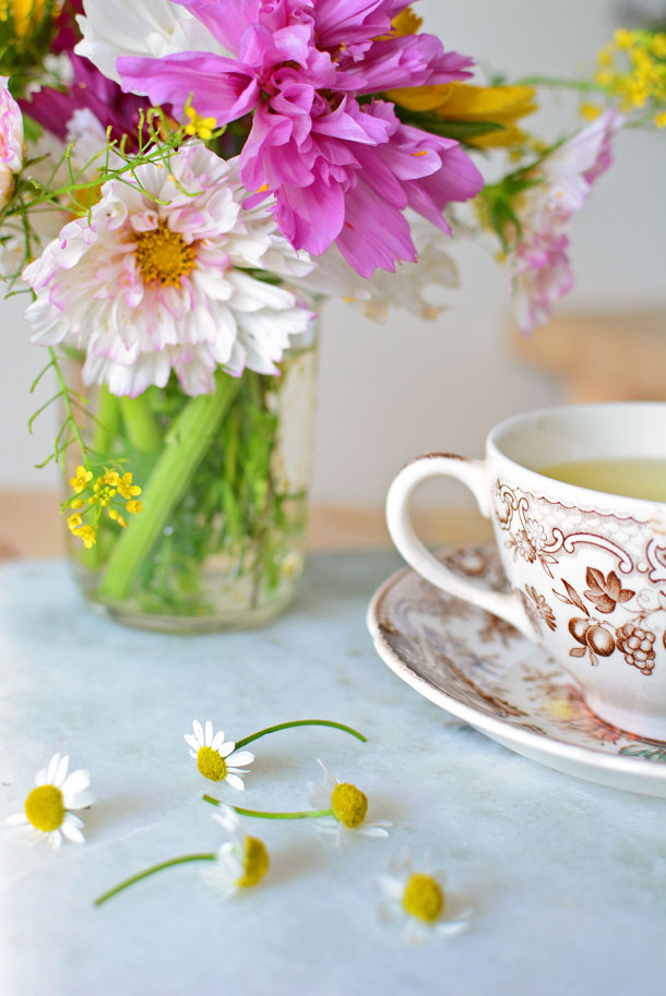 Chamomile Flowers and Tea