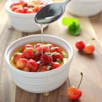 honey-custard-and-sweet-cherries