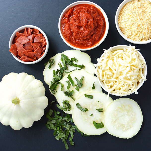 Grilled Pattypan Squash Pizza Ingredients