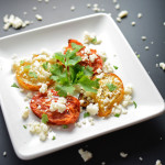 queso fresco and oven roasted plum tomatoes