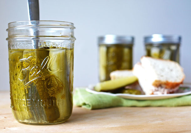"""The PERFECT recipe for small batch crunchy canned dill pickles! Complete with tips on how to can, how to make them look beautiful in the jar, and how get that coveted pickle """"crunch!""""   simpleseasonal.com"""