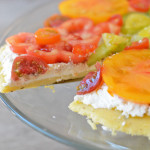 Heirloom Tomato and Polenta Pie