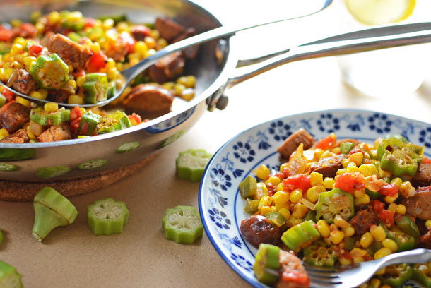 Corn and Okra Maque Choux