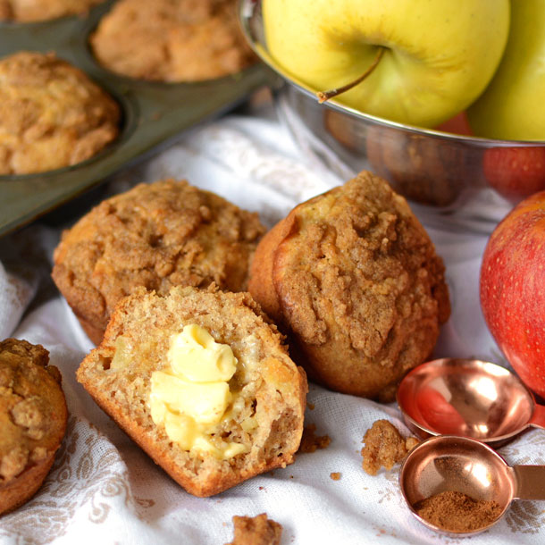 Apple Wheat Morning Muffins