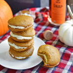 ginger snap pumpkin whoopie pies