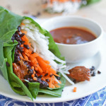 Senposai, Daikon and Chili Garlic Chicken Wrap