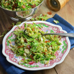 Shaved Brussel Sprout with Bacon and Pine Nuts
