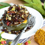 Thanksgiving Wild Rice Stuffed Acorn Squash
