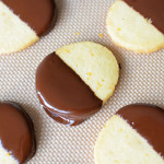 Chocolate-Dipped Orange Shortbread Cookies