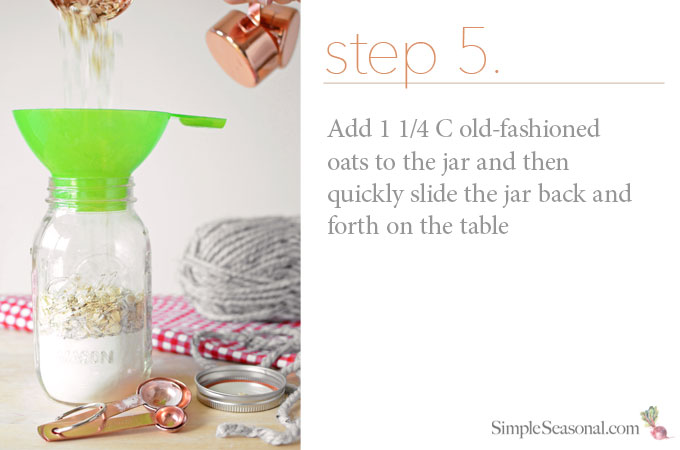 DIY Jarred Gift - Chocolate Cherry Oat Scones - Step 5