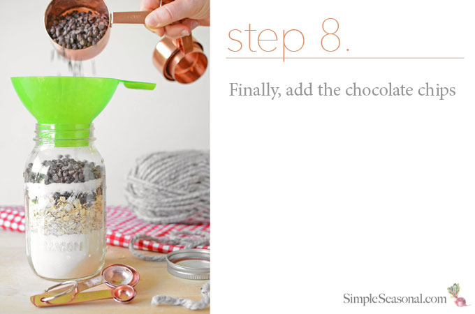 DIY Jarred Gift - Chocolate Cherry Oat Scones - Step 8