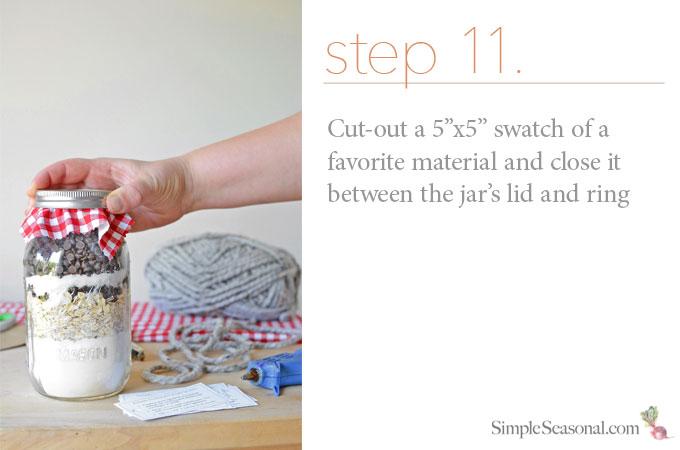 DIY Jarred Gift - Chocolate Cherry Oat Scones - Step 11
