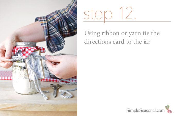 DIY Jarred Gift - Chocolate Cherry Oat Scones - Step 12
