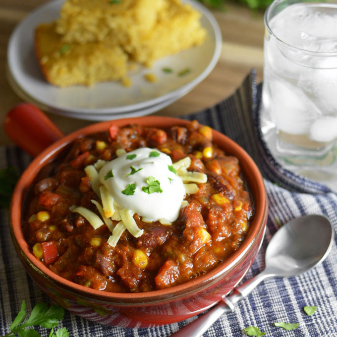 Crock-Pot Vegetable Chili