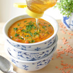 Red Lentil Soup with Honey