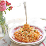 Lobster Linguine in Blushing Saffron Sauce