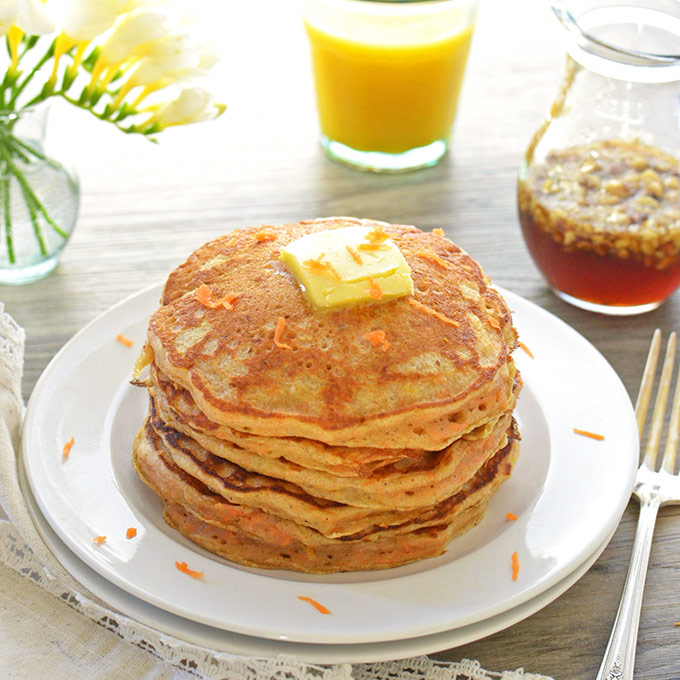 Carrot Cake Pancakes - Simple Seasonal