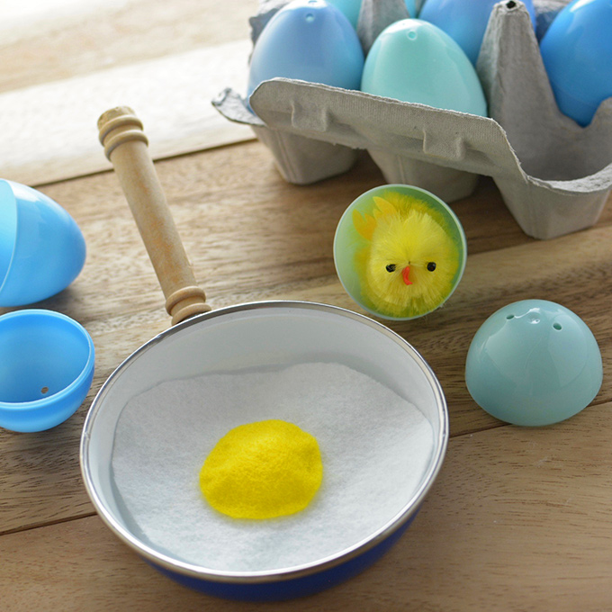 Upcycled No-Sew Toy Felt Eggs