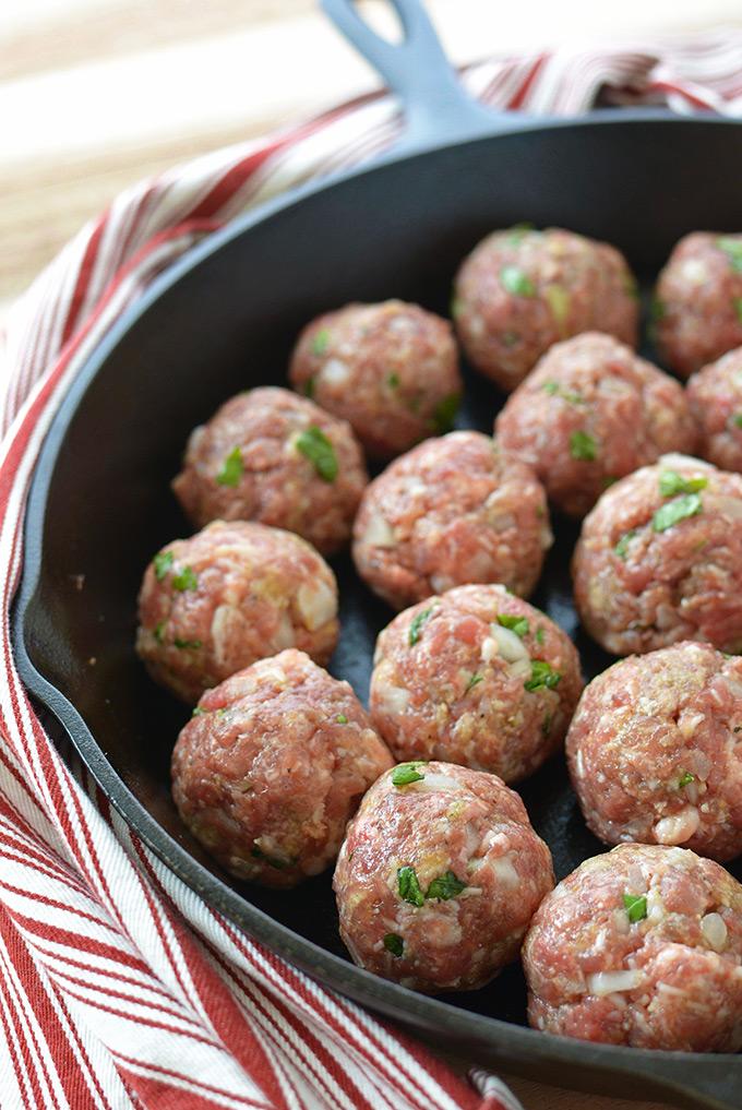 Prepping Italian Meatballs