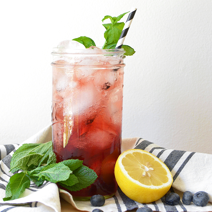 Blueberry Mint Fizz Cocktail