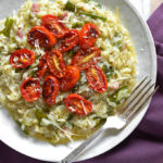 Kohlrabi Risotto with Roasted Tomatoes
