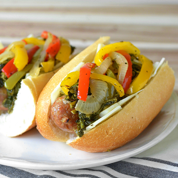 Philly Style Italian Sausage and Pepper Sandwiches