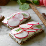 Pumpernickel and Radish Tea Sandwiches