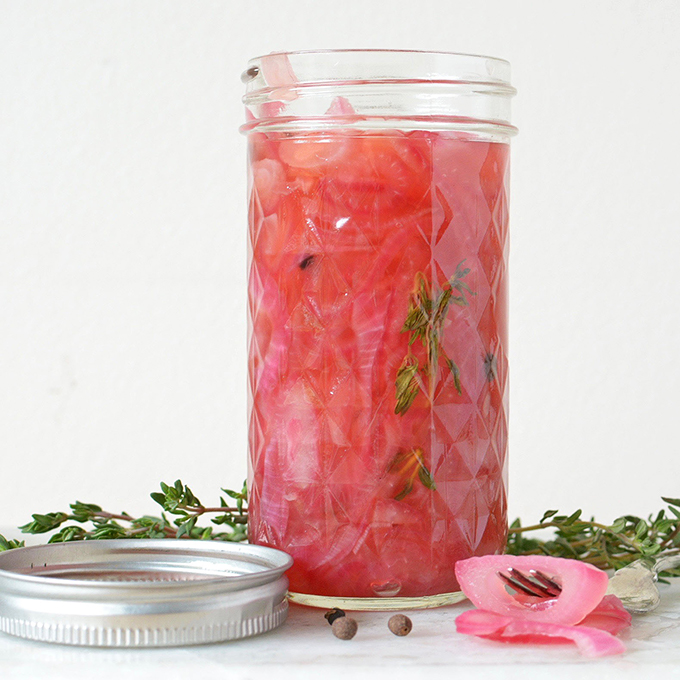 Small Batch Canned Pickled Red Onions