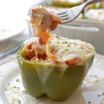 Cheesy Stuffed Green Peppers