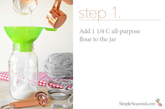 DIY Jarred Gift - Chocolate Cherry Oat Scones - Step 1