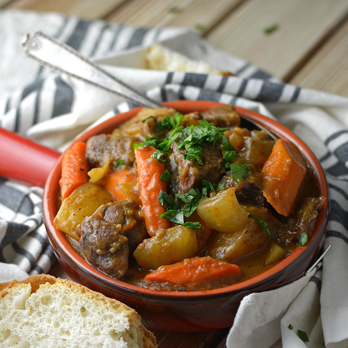 Slow Cooker Beef And Vegetable Stew Simple Seasonal