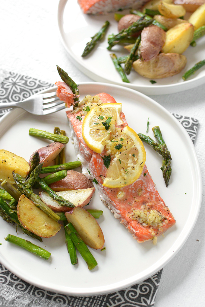 Sheet Pan Lemon Pepper Salmon and Veggies
