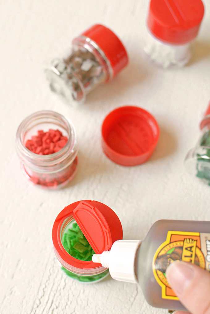 Play Kitchen Upcycled Spice Jars Step 3