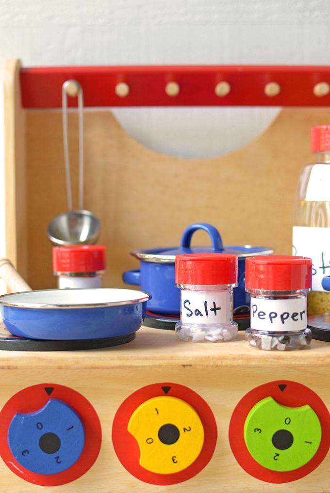 Play Kitchen Upcycled Spice Jars Simple Seasonal