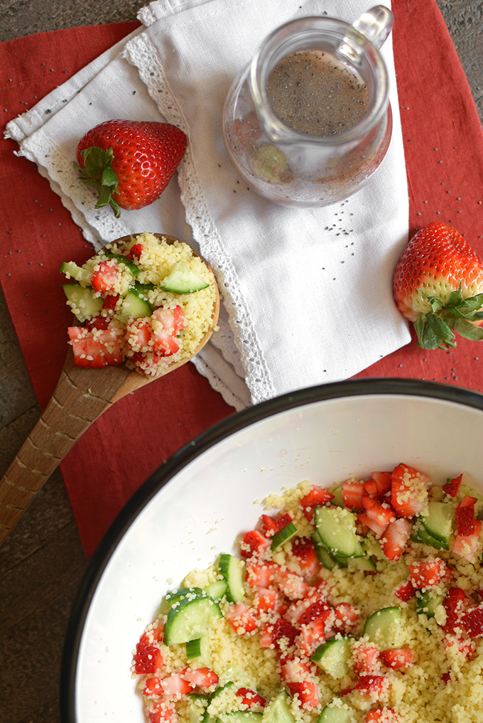 Cous Cous Salad with Poppy Seed Dressing