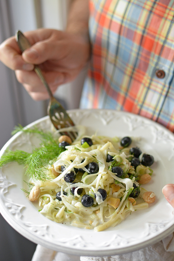 Fennel, Kohlrabi and Blueberry Salad