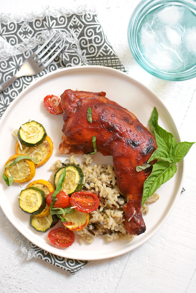 Sheet Pan BBQ Chicken with Summer Squash