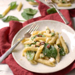 Smoked Mozzarella and Spinach Pasta Salad