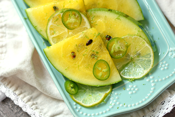 Tipsy Tequila Yellow Watermelon Wedges