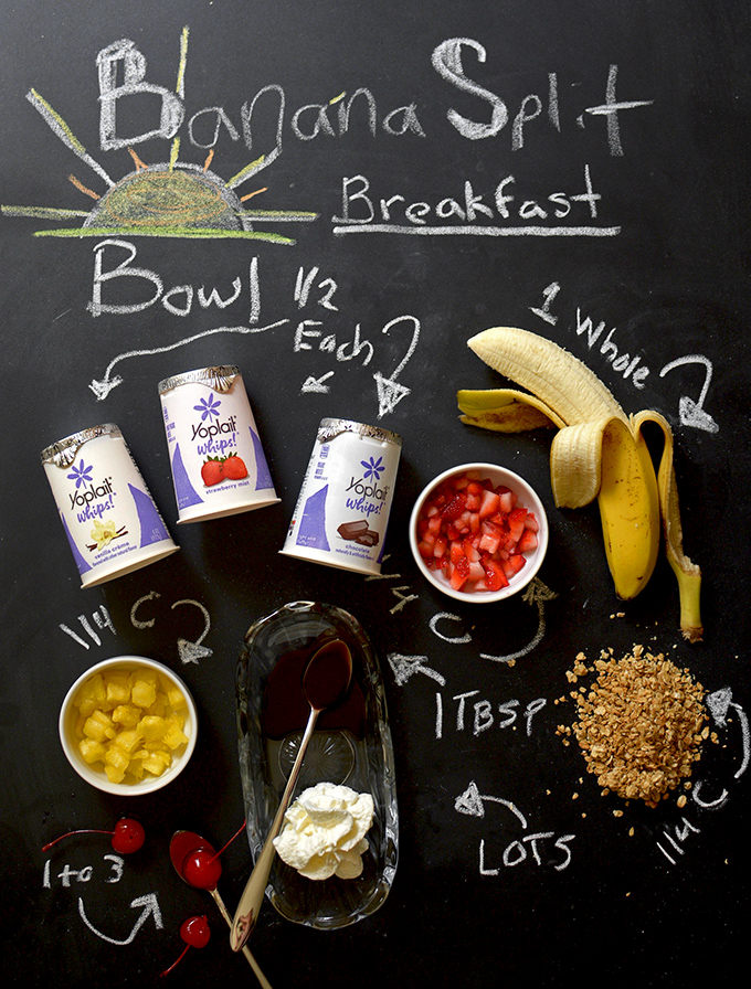Banana Split Breakfast Sundae Bowl Ingredients
