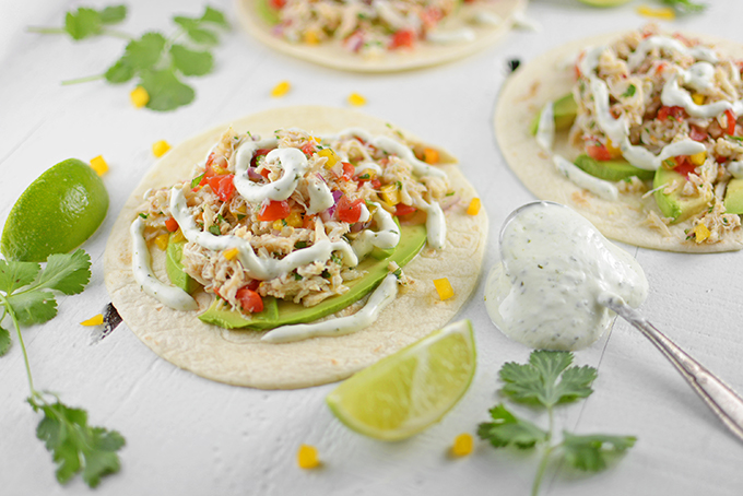 No Cook Cilantro Lime Crab Tacos